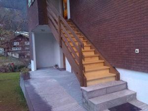Holztreppe Aussen