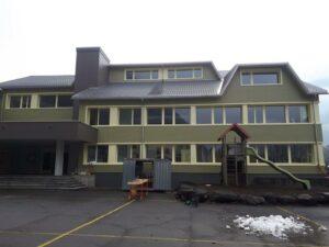Schulhausrenovation Eternitfassade